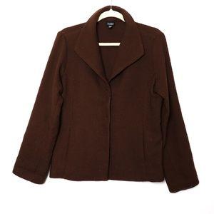 Eileen Fisher | Knit Wool Snap Closure Jacket